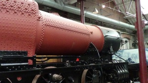 The boiler shop was where the boiler units for the locomotives were assembled