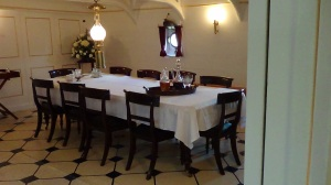 Captains dining room