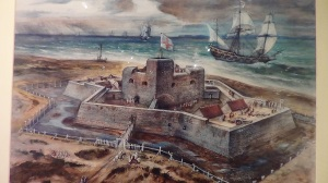 Artists impression of original Southsea castle 1544