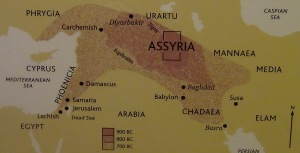 The expansion of the Assyrian empire 900-700 BCE