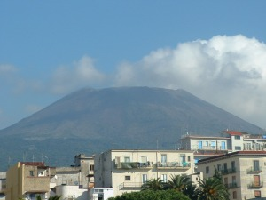 The villain of the piece - Mount Vesuvius from Herculaneum