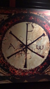 Picture of Chi-rho symbol from wall paintings
