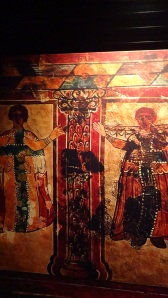 Picture of christian worshipers from wall painting