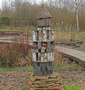 Bug hotel in the Wildlife Garden