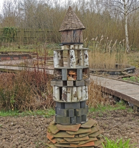 Bug hotel in the Wildlife Garden