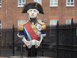 Figurehead from HMS Trafalgar (Admiral Lord Nelson). Now in Historic Dockyard Portsmouth