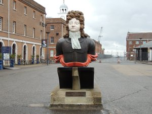 Figurehead of HMS Benbow (now on display in Historic Dockyard Portsmouth)