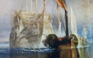 Large wall poster depicting probably Turners most famous maritime painting - 'The Fighting Temeraire'