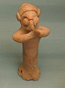 Terracotta figurine with clasped hands from Carcamesh (12th-7th BCE) British Museum