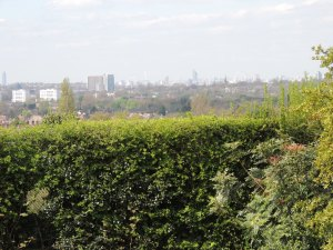 The view From Eltham Palace gardens over London