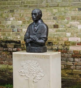 Bust of Lord Baden-Powell on Brownsea Island