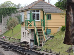 The signal box at Swanage