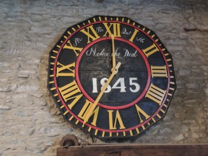The clock from Hawkshead church (1845)