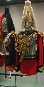 Dress uniform of Lifeguards and Blues and Royals. The black plume designates a Farrier