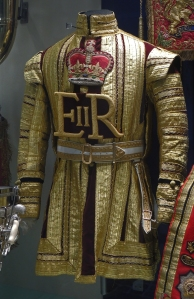 Dress ceremonial coat of a member of the Regiments mounted band