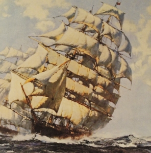 Cutty sark by Montague Dawson