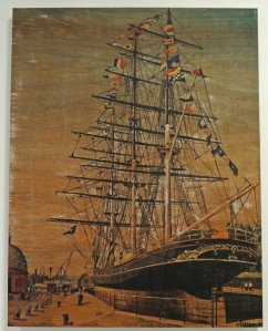 Cutty Sark at Greenwich 1990 by Derek Breese. Shown as displayed prior to fire of 2007
