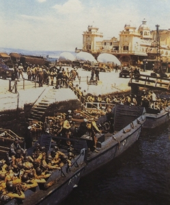 American troops departing Weymouth for Omaha beach