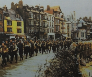 American troops marching through Weymouth