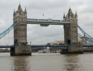 Tower Bridge from the pool of London