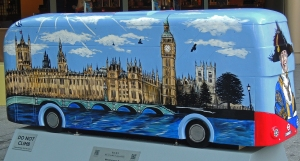 Houses of Parliament on 'City of Westminster' bus