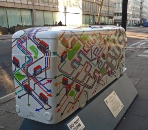 'London takes the Bus' depicting the city bus network