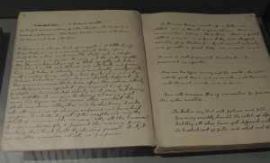 One of Conan-Doyle's original notebooks