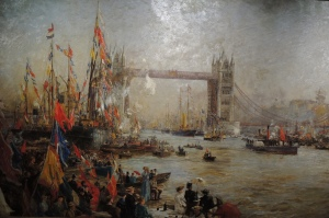 The opening of Tower Bridge by W L Wylie (1894)