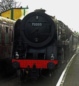 70000 Britannia entering Ropley
