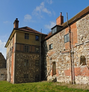 Farmhouse incorporating walls from Abbey buildings