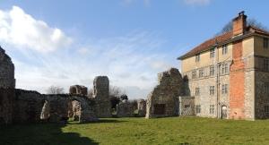 farmhouse built into Abbey remains