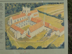 Artist's impression of buildings during the 16th century