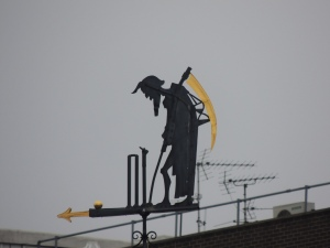 The famous 'Old father Time' Weather vane