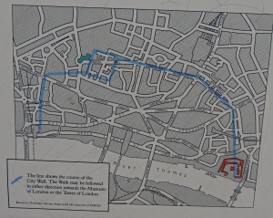 Map of London City Walls