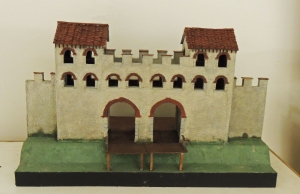 Model of possible appearance of Western Gatehouse