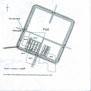 Plan of Roman fort c122AD