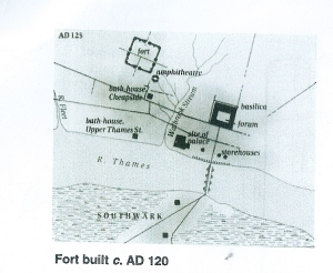 LOcation of Roman fort c122AD