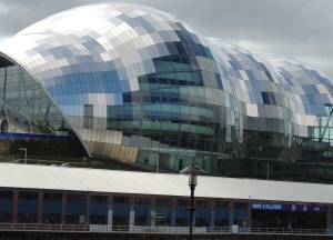 The Sage, Gateshead ( an arts venue) seen from Newcastle river front