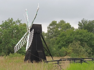 Windmill used to control water level on fen