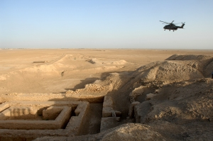 """A general view of the Uruk archaeological site at Warka in Iraq. """"Uruk Archaealogical site at Warka, Iraq MOD 45156521"""" by Photo: SAC Andy Holmes (RAF)/MOD. Licensed under OGL via Wikimedia Commons - http://commons.wikimedia.org/wiki/File:Uruk_Archaealogical_site_at_Warka,_Iraq_MOD_45156521.jpg#/media/File:Uruk_Archaealogical_site_at_Warka,_Iraq_MOD_45156521.jpg"""