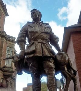 Statue of John Simpson Kirkpatrick in South Shields