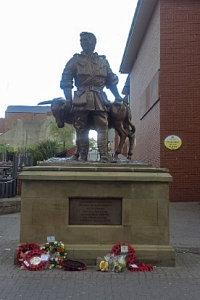 Statue of John Simpson Kirkpatrick in South Shields