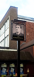 The sign outside the Kirkpatrick pub in South Shields