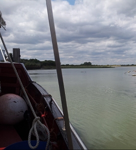 Entering the river from Otterham Creek