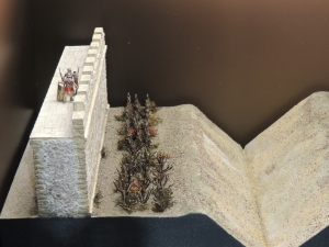 Model of Hadrian's wall at its eastern end