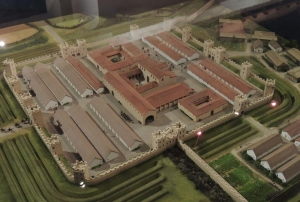 A model of Segedunum fort c 200AD