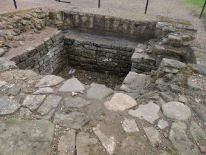 The excavated strongroom at Arbeia