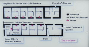 Plan of barrack block