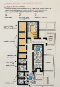 Plan of Commander's house