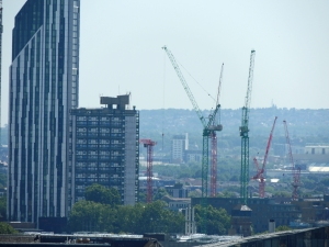 Cranes are much in evidence on the London sky-line
